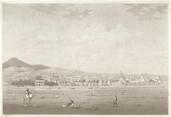 'View of Seringapatam'.  Aquatint, drawn and engraved by James Moffat, published Calcutta undated.